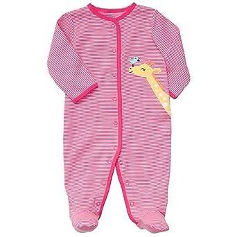 ce8963d68 Amazon.com  Carters Baby Girls  Pink Stripe Giraffe Sleep   Play ...