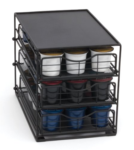 Lipper International 8670 In-Cabinet Coffee Pod Drawer, 3-Tier, 45-Pod Capacity, Black by Lipper International (Image #1)