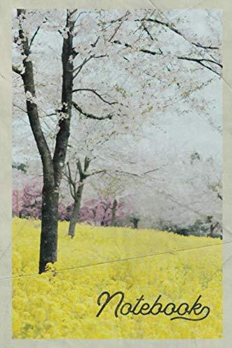 Notebook: Cherry blossom festival convenient Composition Book Journal Diary for Men, Women, Teen & Kids Vintage Retro Design for spring gardener