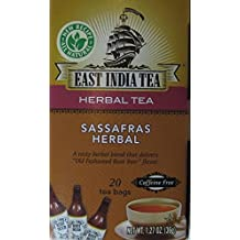 Sassafras Herbal Tea - Box of 20 Tea Bags - Old Fashioned Root Beer Flavor