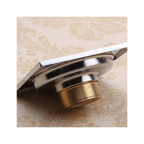 lanmei Bathroom Accessory Contemporary Chrome Finish Solid Brass Floor Drain-LK-1065 best