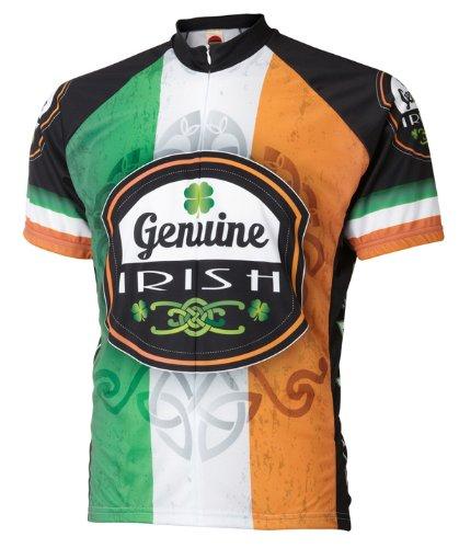 (Genuine Irish Ireland Cycling Jersey by World Jerseys Men's Large Short)