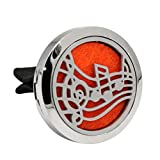 Iuhan Car Stainless Air Auto Vent Freshener Essential Oil Diffuser Gift Decor Clip Decoration (J)