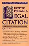 How to Prepare a Legal Citation 9780812029604