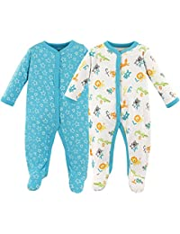 Baby Cotton Snap Sleep and Play, ABCs 2 Pack, 3-6 Months