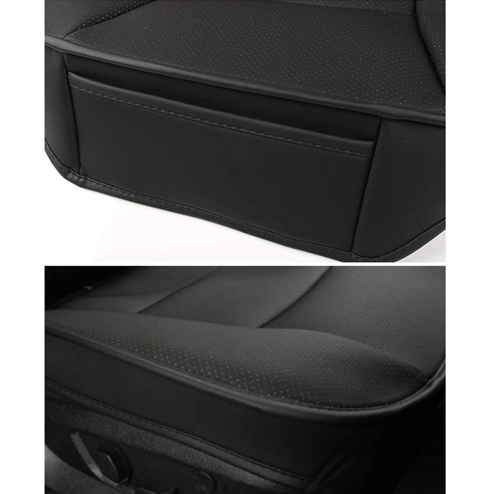 LUOLLOVE Sitzbez/üg Auto Universal Leder Super Weich f/ür Vordersitz 1 PC Schwarz 52 x 51 cm