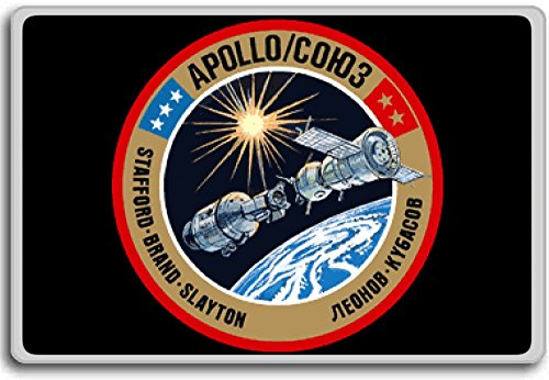 Apollo Soyuz 1, 1975 Project Apollo Mission Patch Insignia fridge magnet