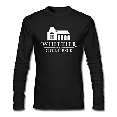 2efad9be779 Image Unavailable. Image not available for. Color  Fanlig Men s Whittier  College Long Sleeve Crew Neck Black T-shirts