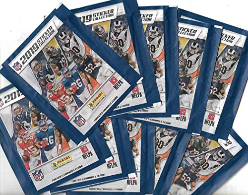 Figurinhas NFL 2019 - lote com 10 envelopes
