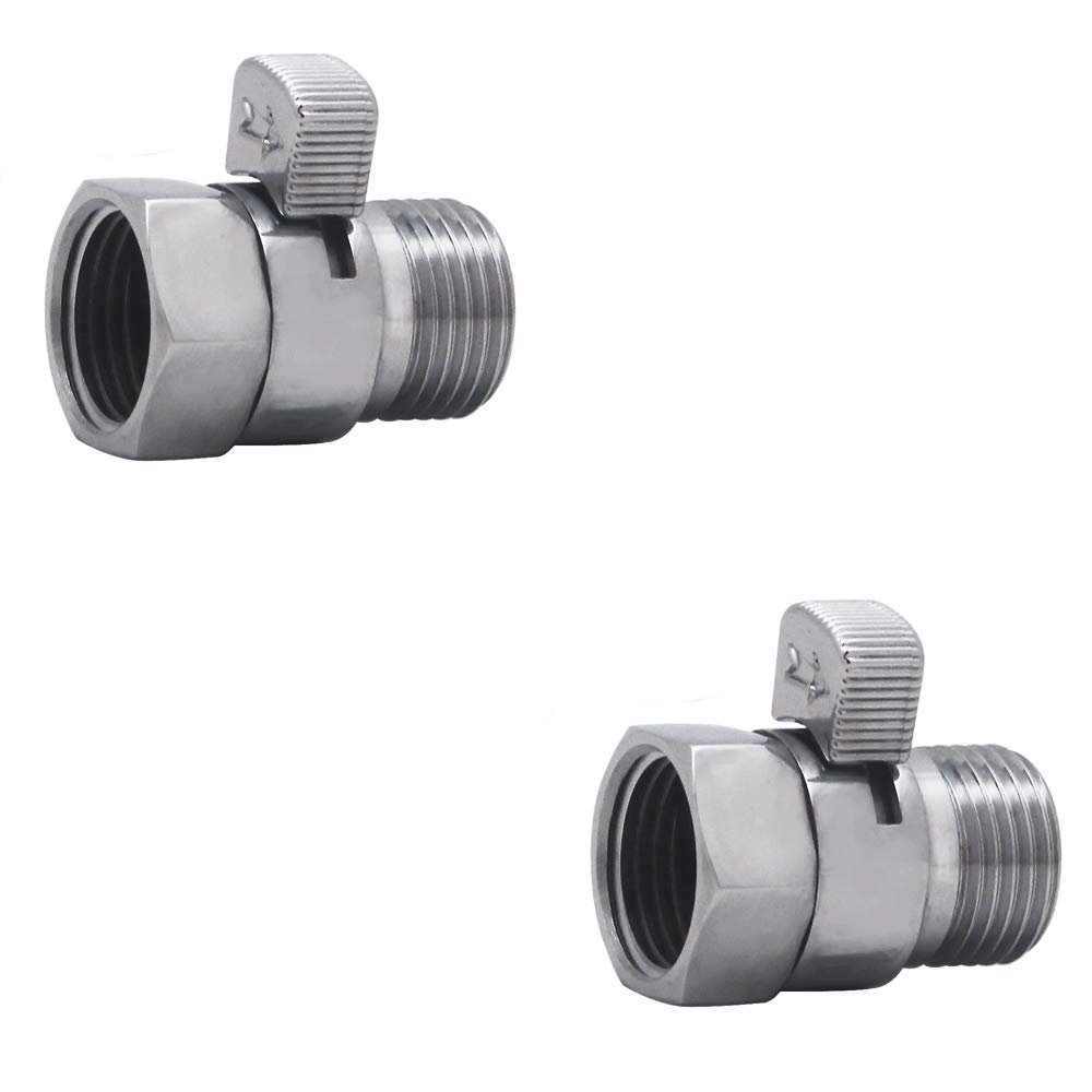 XVL Shower Head Shut-Off Valve Solid Brass 2 Pieces PT10A