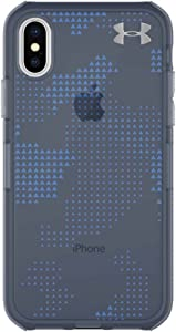 Under Armour UA Protect Verge Case for iPhone X - Utility Print/Translucent Navy/Mediterranean
