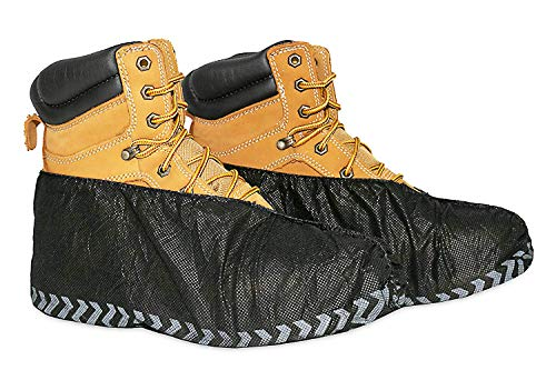 ShoeBoss 100 PACK #1 Non-Slip Black Shoe Covers - Perfect For Realtors & Contractors | Durable - Disposable - Recyclable & Industrial Quality by ShoeBoss (Image #4)