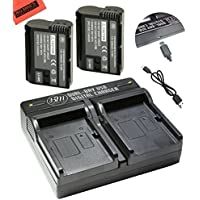 BM Premium Pack Of 2 EN-EL15 Batteries and USB Dual Battery Charger Kit for Nikon D7500, 1 V1, D500, D600, D610, D750, D800, D810, D810A, D850, D7000, D7100, D7200 Digital SLR Camera