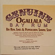 Two (2) of Genuine Ogallala Bay Rum, Bay Rum-Limes & Peppercorns Shaving Soap - Each Puck 4.5 oz