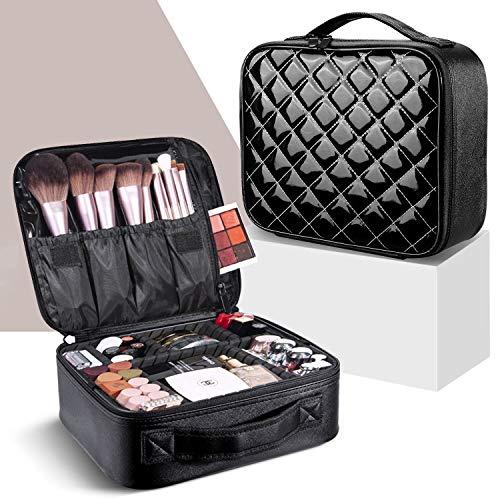 Makeup Bag,WDLHQC Travel Makeup Organizers and Storage Case,Portable Make up Bag Organizer Cosmetic Train