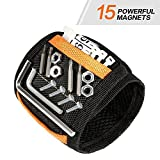 #10: KeeQii Magnetic Wristband with 15 Super Strong Magnets for Holding Screws, Nails, Drill Bits Father Day Gift Tool Band for Him Men Handyman Husband Father WomenGuys DIY-er
