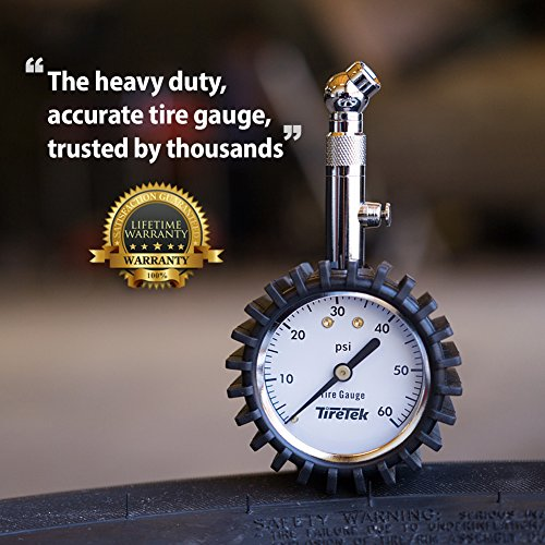 TireTek Premium Tire Pressure Gauge With Integrated Hold Valve - 60PSI by TireTek Precision Instruments (Image #5)