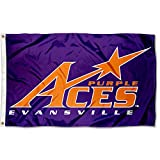 evansville purple aces - Evansville Purple Aces EU University Large College Flag