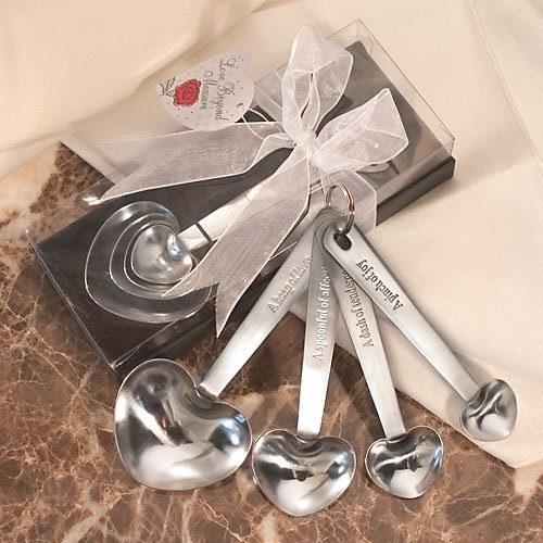 Stainless Steel Measuring Spoons in Gift Box, - Wedding Favors Measuring Spoons