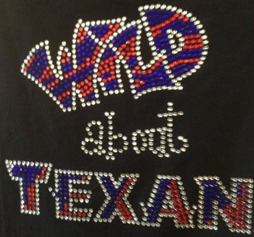 Wild About Texan Rhinestone Transfer Iron On Hot Fix Motif Bling Applique - DIY