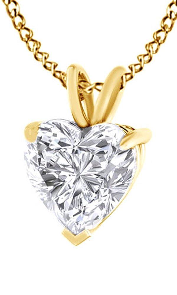 Weißszlig; Zirkonia Anhänger Halskette in 18 ct Gold über Sterling Silber 4,5 cttw) (Ring, 18 Karat verGoldet Sterling Silber) 18K gelbverGoldetes Silber