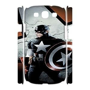 Samsung Galaxy S3 I9300(3D) Captain America pattern design Phone Case