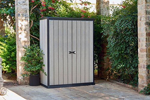 Keter High Store 4.5 x 2.5 Vertical Outdoor Resin Storage Shed, Grey by Keter (Image #3)