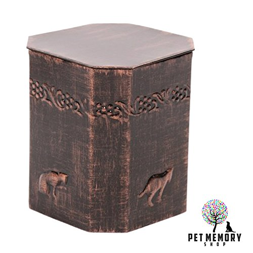 (Pet Memory Shop Urn for Cats - New - Choose From 4 Styles - Antique Bronze, Copper, Silver Urn for Cats (Copper))