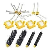 Gosear Cepillo Lateral + Filtro + cerdas batidoras Kit de reemplazo de escobillas Juego de Piezas para iRobot Roomba 700 Serie aspiradoras Robots 760 770 780 790 Accesorios