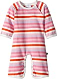 Toobydoo Baby Girl's Multi Pink Stripe Bootcut Jumpsuit (Infant) Pink 6-12