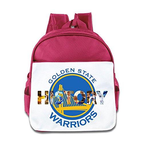 Price comparison product image Jade Custom Cool Golden State City Baskteball Team Kids Schoolbag For 1-6 Years Old Pink