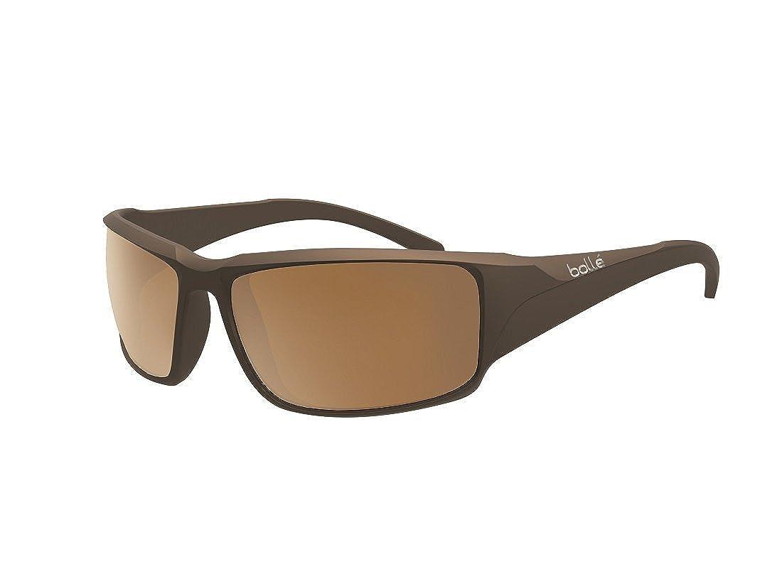 Amazon.com: Bolle Keelback Sunglasses, Polarized AG-14 Oleo ...