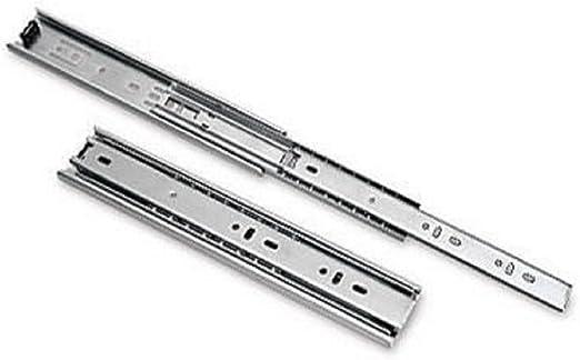 1 Pair Glissi/ères de tiroir diapositive Chemin de roulement /à extension compl/ète 1/Paire 500mm