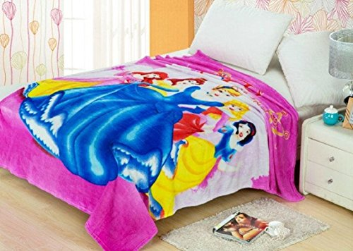 Ab Collection Five Princess Fleece Throw Blanket 59'' 79'' approx
