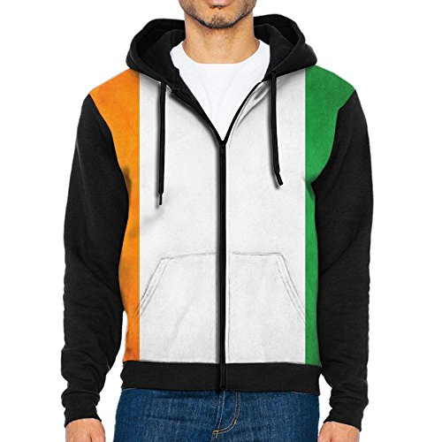 (Wen's Flag of Ivory Coast Zipper Hoodie Sweatshirt Travel Jackets Casual Outwear )