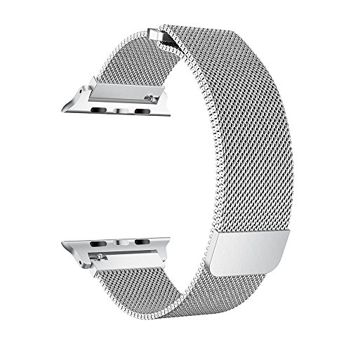 Compatible for Apple Watch Band Series 4/3 / 2/1, Milanese Stainless Steel Replacement Band Strap for Iwatch Apple Watch Bracelet Accessories (Silver, 38mm)