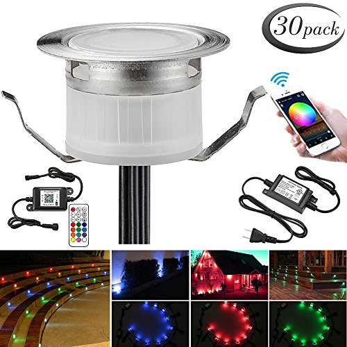 LED Deck Lights Kit, 30pcs Φ1.22