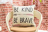 Fjfz Cotton Linen Home Decorative Quote Words Throw