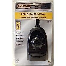Defiant YLT-32 15 Ampere Outdoor Digital Timer Dual-Outlet with Backlight