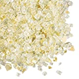 Gold Vase Filler, Crushed Mirror Glass, 8.4 lbs, 92 Ounces, Wedding Centerpiece Table Scatter, (Clear & Gold)