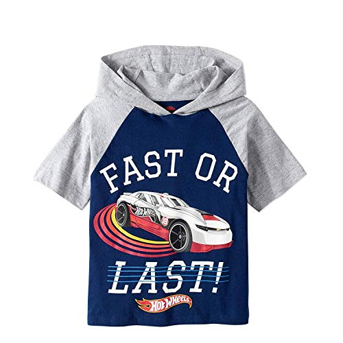 - Hot Wheels Boys Hooded Shirt Boys' 'Fast Or Last' Hooded Raglan Graphic Tee (4)