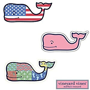 Amazon Com 3x Vineyard Vines Whale Vinyl Stickers