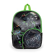 Nickelodeon Teenage Mutant Ninja Turtles Half Shell Hero Backpack with Side Mesh Pockets