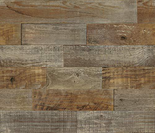 Brewster BHF3045 Farm Wood Peel & Stick Backsplash Tiles, Brown ()
