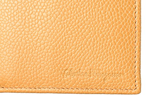 Salvatore Brown Ferragamo Bifold Sand 100 Men's Pebbled Leather Wallet rdr7qxtnZ