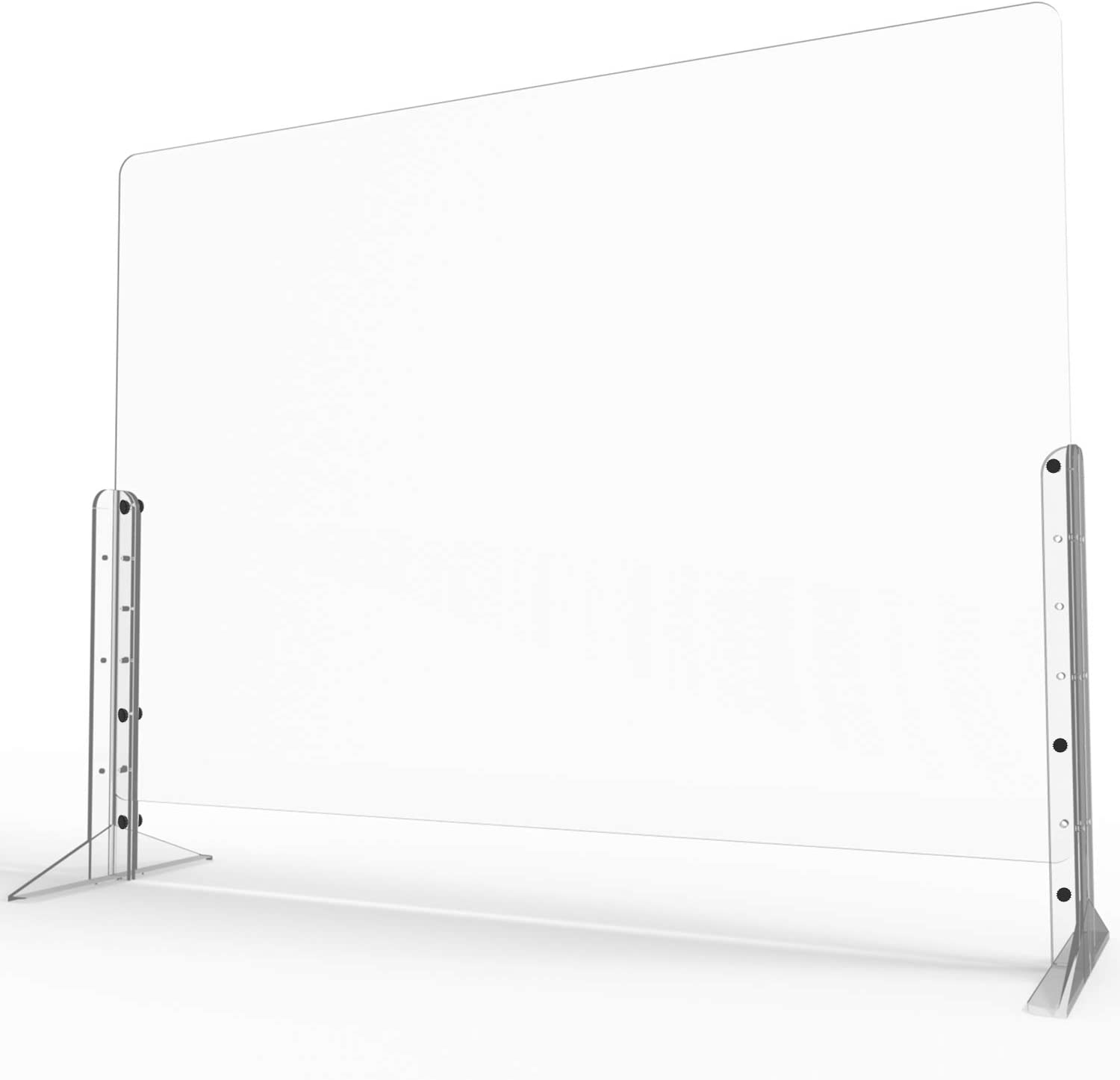 """Euway Sneeze Guards for Desk countertops,[Anti-explosion] Plexiglass Shields Barrier for [Counter] [Countertops] [Desk],Safe Barrier Shield for Table,Clear 32""""W x 24""""H"""
