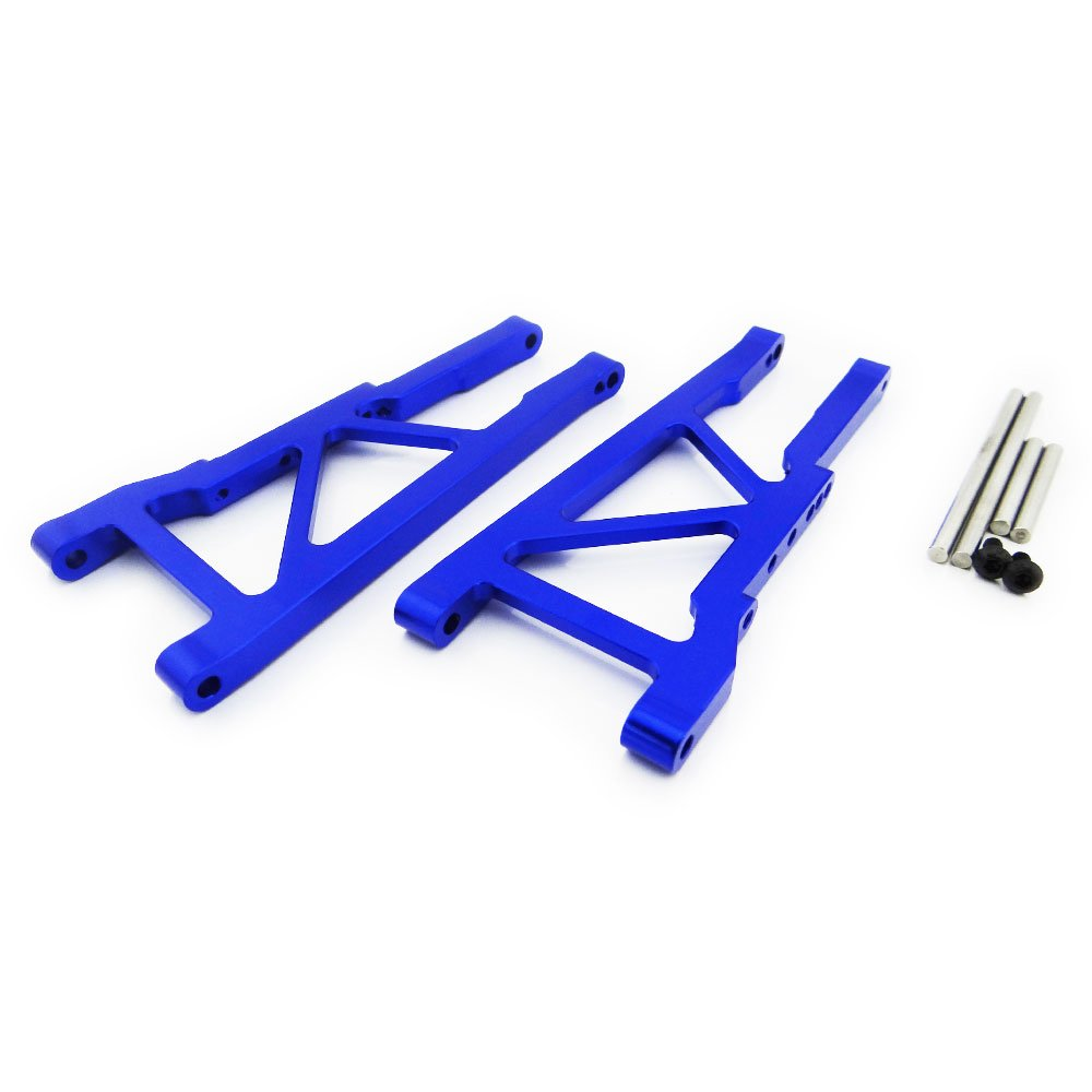 Atomik RC Traxxas Stampede 4x4 1:10 Aluminum Alloy Rear Lower Arm Hop Up Upgrade, Blue Replaces Traxxas Part 3655X