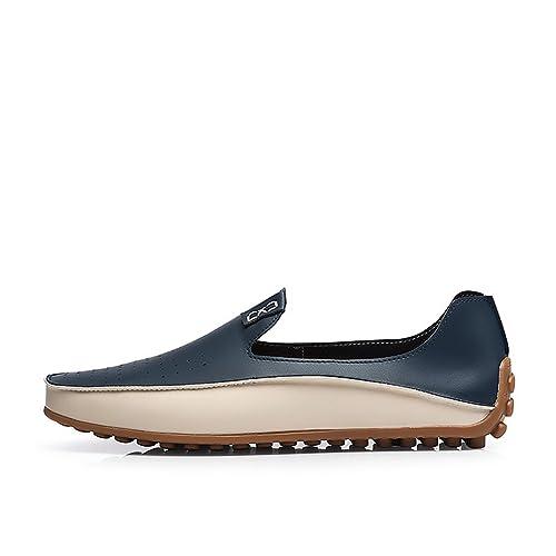 Hombres Mocasines Verano Causal Zapatos Cuero Mocasines Hombres ConduccióN Pisos para Hombre