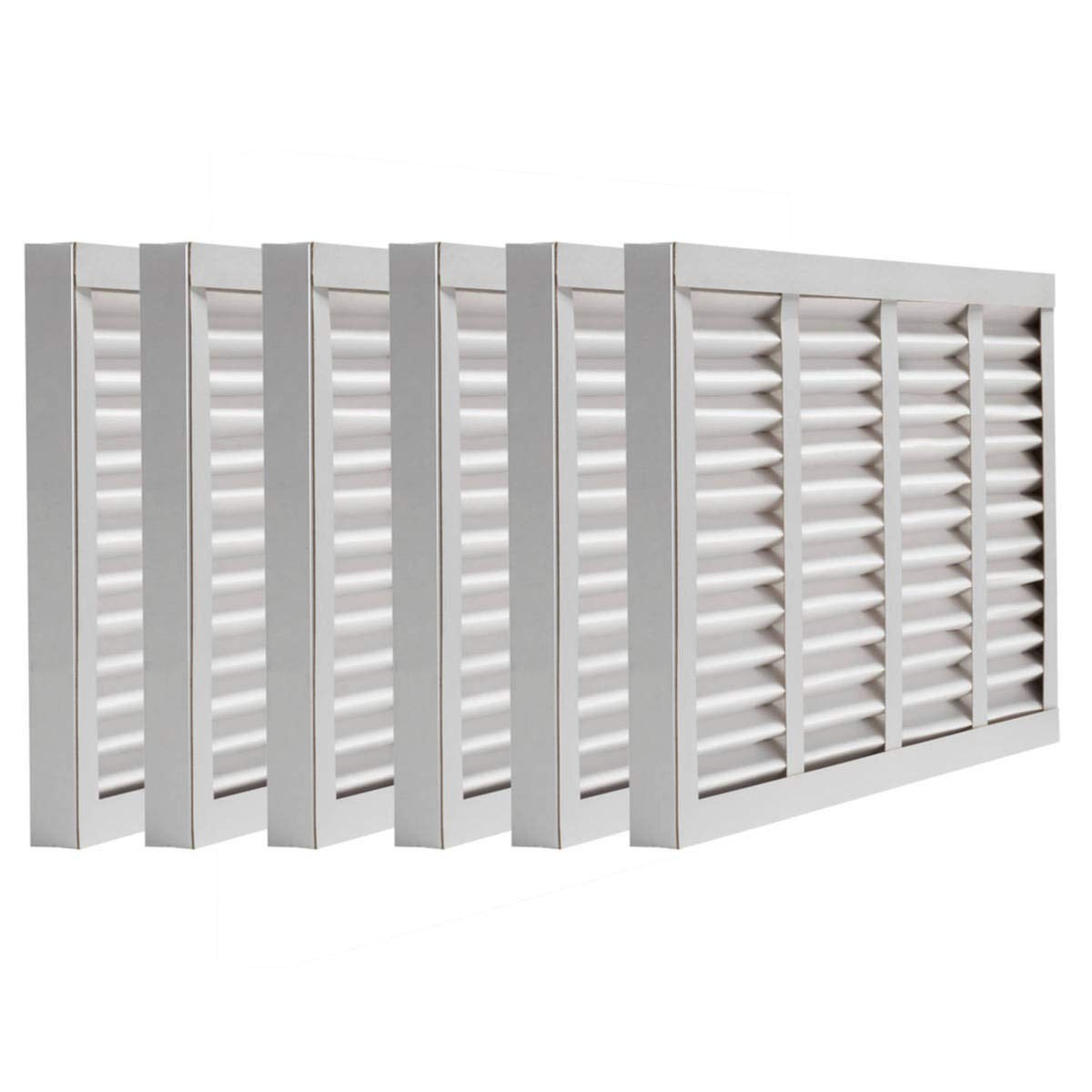 """Assigned by Sterling Seal & Supply, (STCC) HI-18x22x1x6.AZ.Toe Furnace Air Filter, 18"""" x 22"""" x 1"""", Purolator Hi-E 40 Extended Surface Pleated Air Filter, Mechanical MERV 8 (Pack of 6)"""