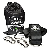 Avail Unlimited Tree Swing Hanging Strap Set - Double Hammock Straps Kit -With 10 feet long straps which hold up to 1200 lbs - Indoor & Outdoor friendly - Portable with the included drawstring bag